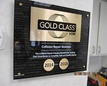 gold class certificate
