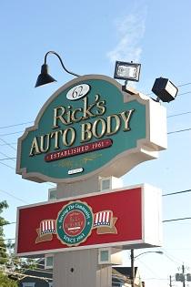 our Ricks Auto Body sign